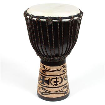 Medium Carved Djembe