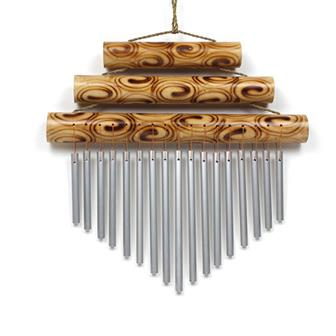 Triple Bamboo Chime - Large