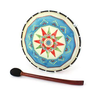 Medium Painted Shamanic Drum