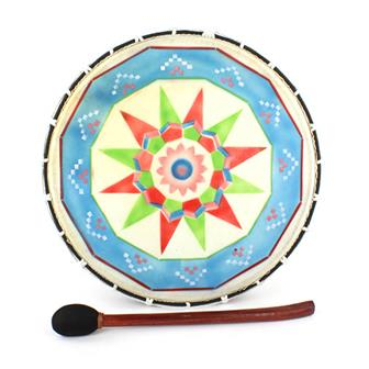 Large Painted Shamanic Drum