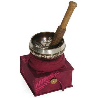 Red Box Singing Bowl Set