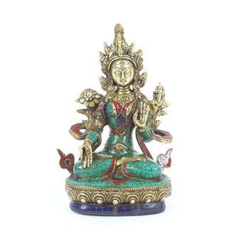 White Tara Turquoise Statue