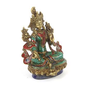Green Tara Turquoise Statue