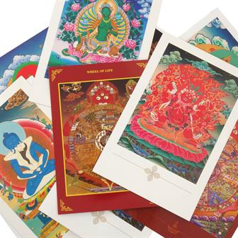Buddhist Themed Postcards from Nepal (10 Pack)