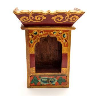 Tibetan Style Shrine Box - Medium