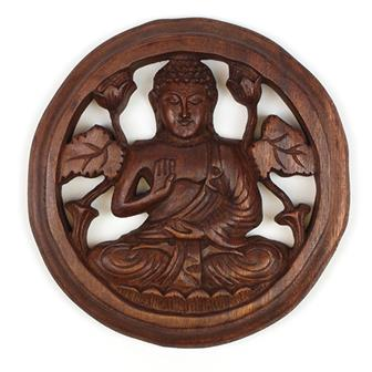 Carved Buddha Plaque