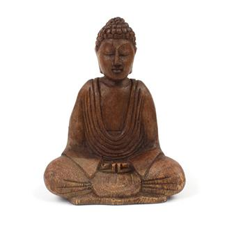 Medium Handcarved Sitting Buddha