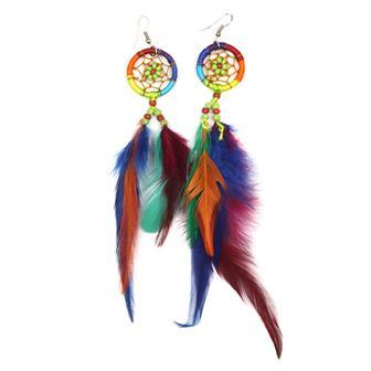 Rainbow Dreamcatcher Earrings