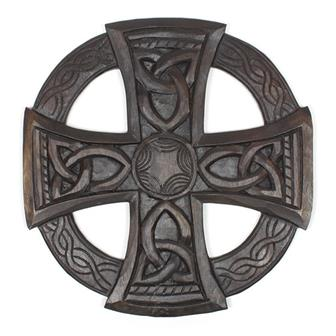 Round Natural Celtic Cross
