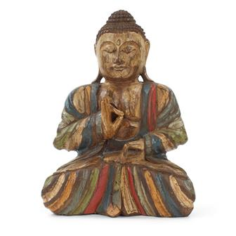 Rustic Buddha Woodcarving