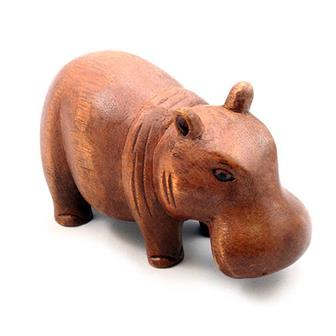Hand Carved Hippo