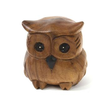 Large Plump Owl Carving