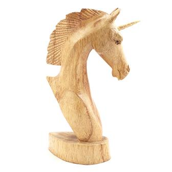 Large Unicorn Woodcarving
