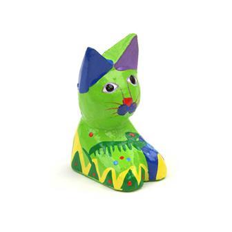 Mini Painted Sitting Cat