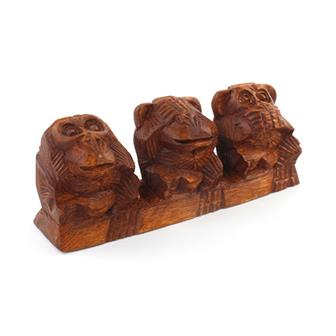 Carved 3 Wise Monkeys