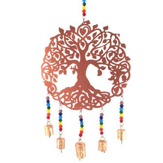 Metal Tree of Life Bell Hanging