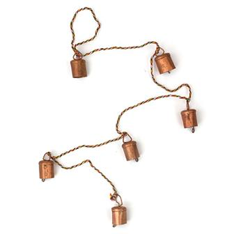 Small Rustic Bells on String