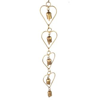 Heart Chain Ironwork with Bells