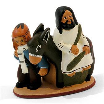 Jesus on Donkey Ceramic