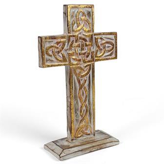 White Standing Celtic Cross