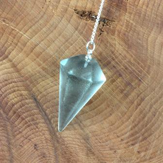 Faceted Blue Obsidian Pendulum