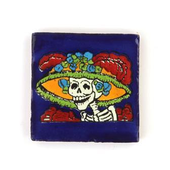 Small Ceramic Catrina Tile