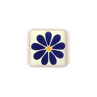 Small Ceramic Flower Tile