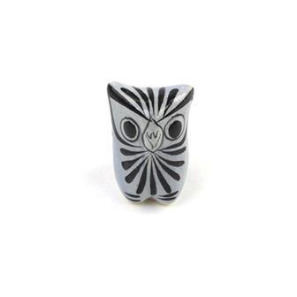 Small Glazed Ceramic Owl