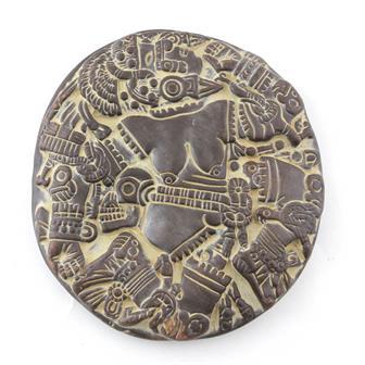 Small Aztec Moon Goddess Plaque