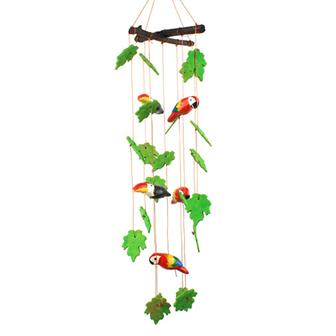 Ceramic Windchime - Parrots and Toucans