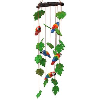 Ceramic Windchime - Parrots
