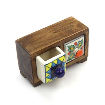 Mini Indian Ceramic Drawers