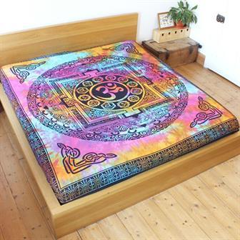 Tie Dye Om Bedspread