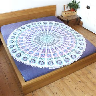 Circular Gol Peacock Throw
