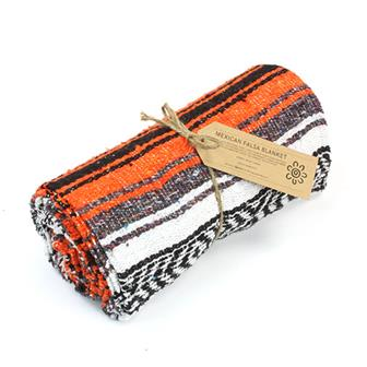 Mexican Falsa Blanket - Orange