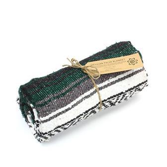Mexican Falsa Blanket - Racing Green