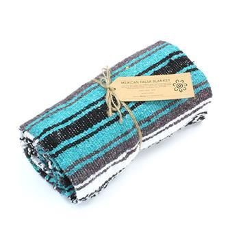 Mexican Falsa Blanket - Teal