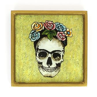 Crown of Roses Folk Art Frame