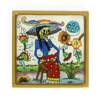 Catrina Folk Art Frame