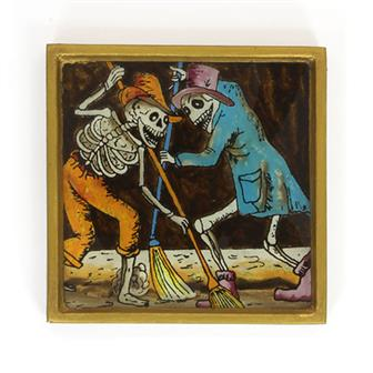 Sweeper Folk Art Frame