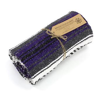 Mexican Falsa Blanket - Purple