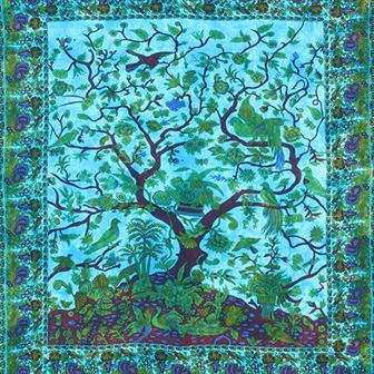 Vibrant Tree of Life Bedspread