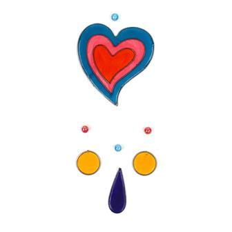 Nested Hearts Suncatcher