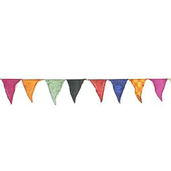 Recycled Sari Bunting (Large Flag)