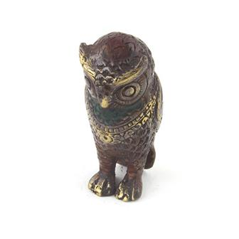Bronze Owl Charm
