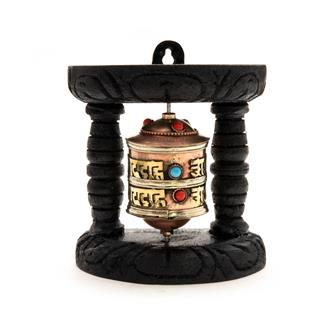 Wall Mounted Prayer Wheel Single
