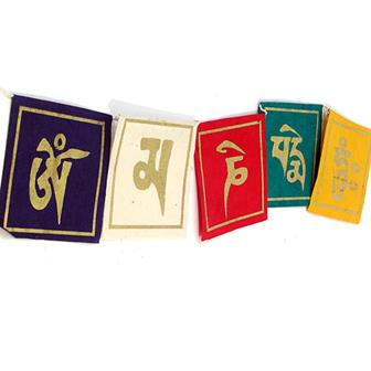 Om Mani Paper Prayer Flags
