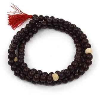 Dark Wood Mallah Beads