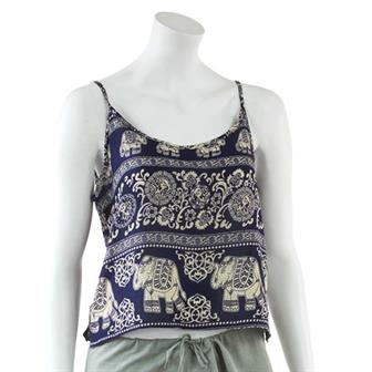 Printed Rayon Crop Top