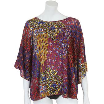 Festival Print Butterfly Top
